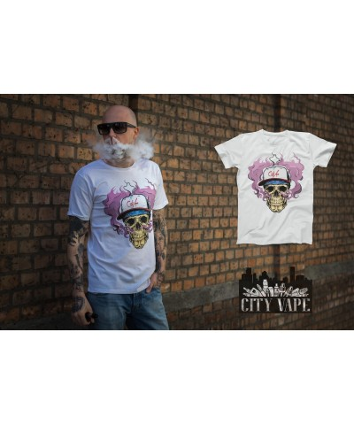 City Vape- Skull T-Shirt Weiss (S)
