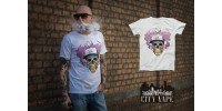 City Vape- Skull T-Shirt Weiss (XXL)